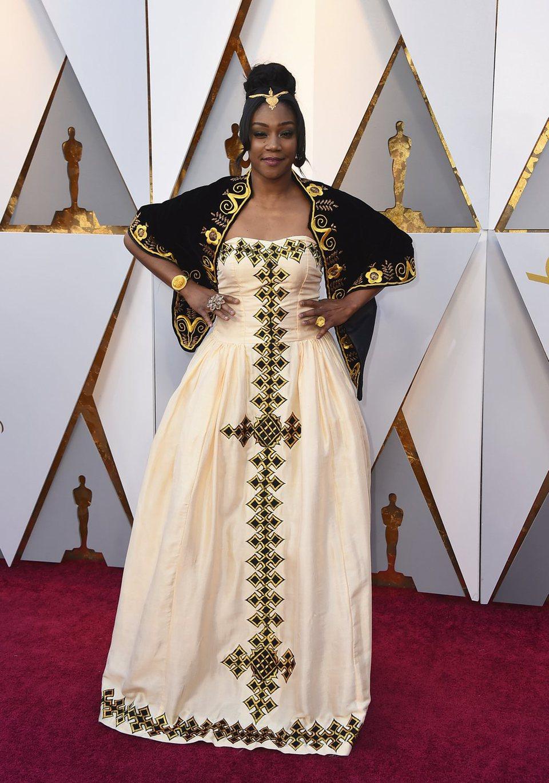 Tiffany Haddish at the red carpet of the Oscars