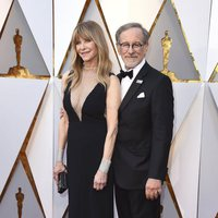 Steven Spielberg and his wife Kate Capshaw at the red carpet