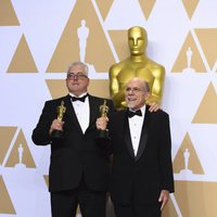 Alex Gibson and Richard King winners of the Oscar for Best Sound Editing for 'Dunkirk'