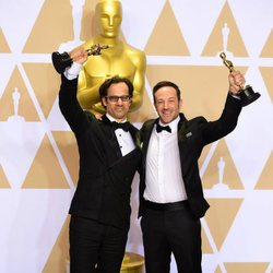 Dan Cogan and Bryan Fogel winners of the Oscar for Best Documentary Feature in 'Icarus'