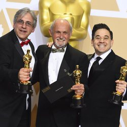 Mark Weingarten, Gregg Landaker and Gary A. Rizzo, Oscar winners for best sound mixing for 'Dunkirk'
