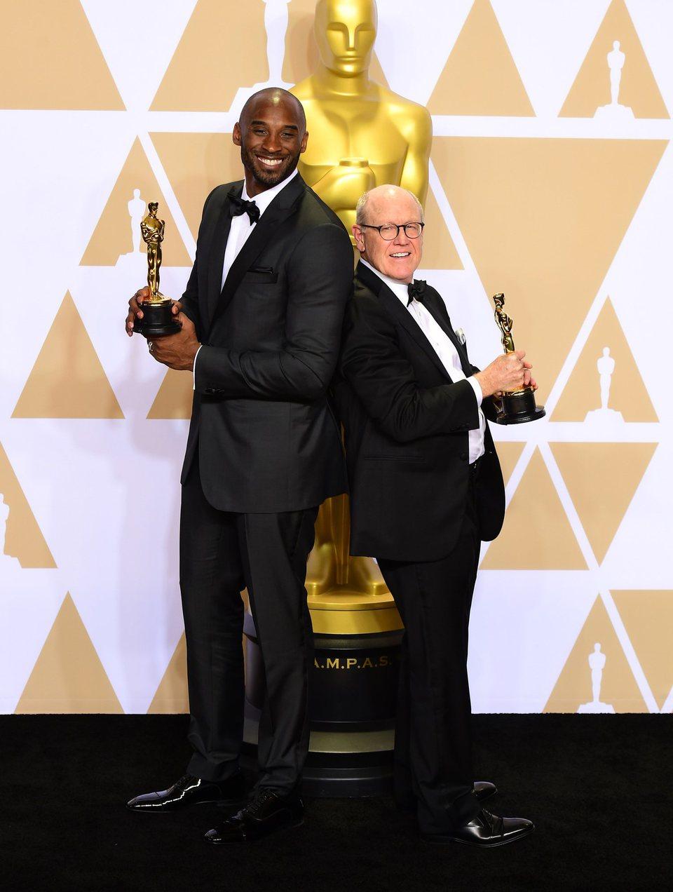 Kobe Bryant and Glen Keane, Oscar winners for Best Animated Short