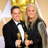 Lee Unkrich and Darla K. Anderson, winners of Best Animated Feature Film Oscar for 'Coco'