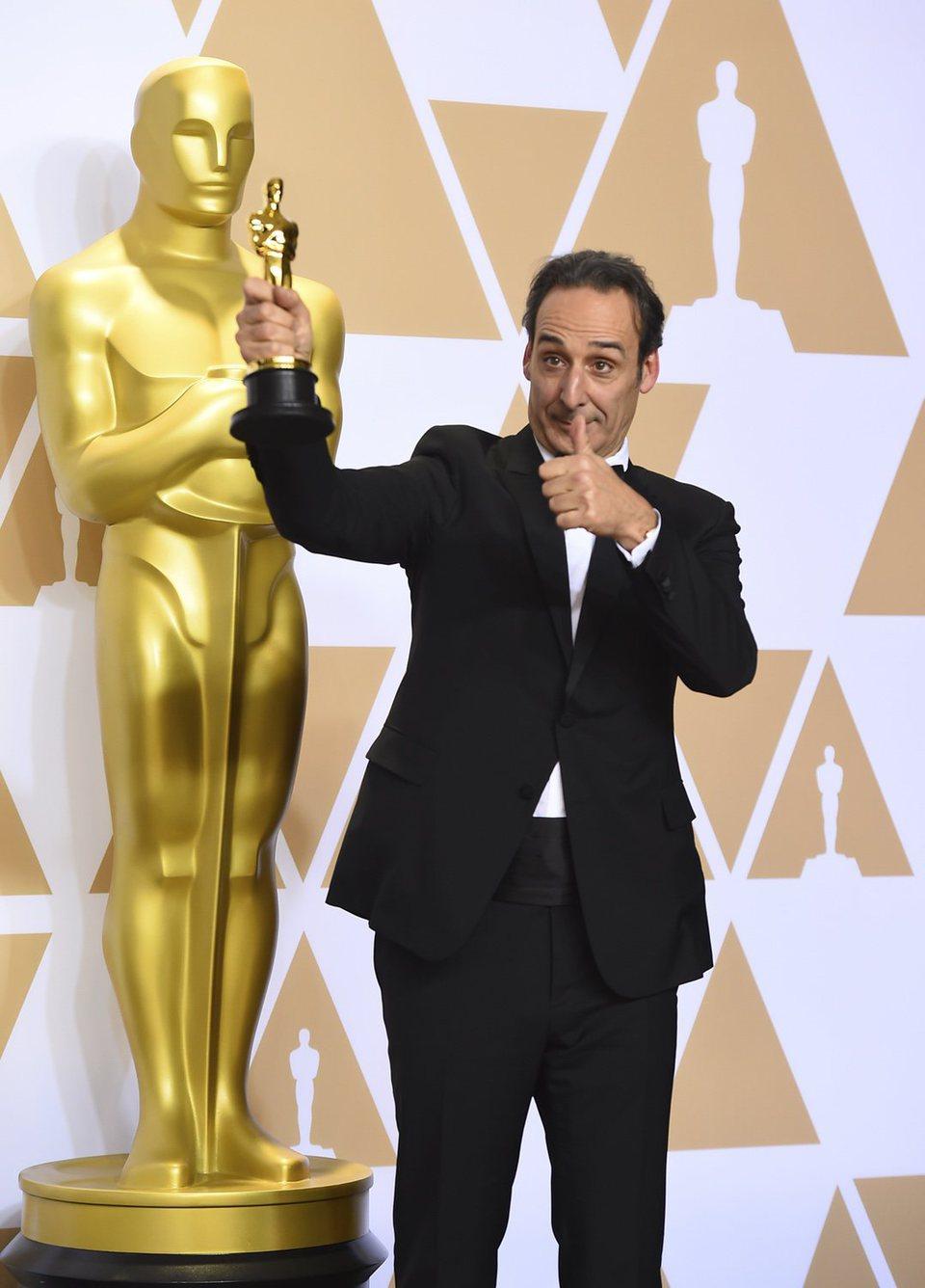 Alexandre Desplat, winner of the best original score Oscar for 'The Shape of Water'