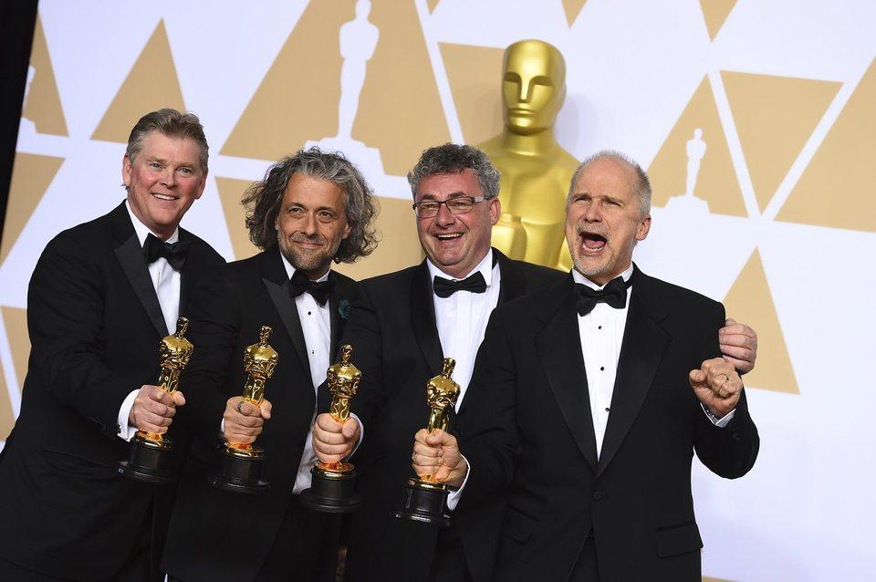 Richard R. Hoover, Paul Lambert, Gerd Nefzer and John Nelson, winners of the best visual effects Oscar for 'Blade Runner 2049?