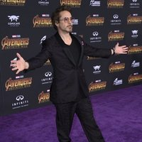 Robert Downey Jr. at the 'Avengers: Infinity War' purple carpet