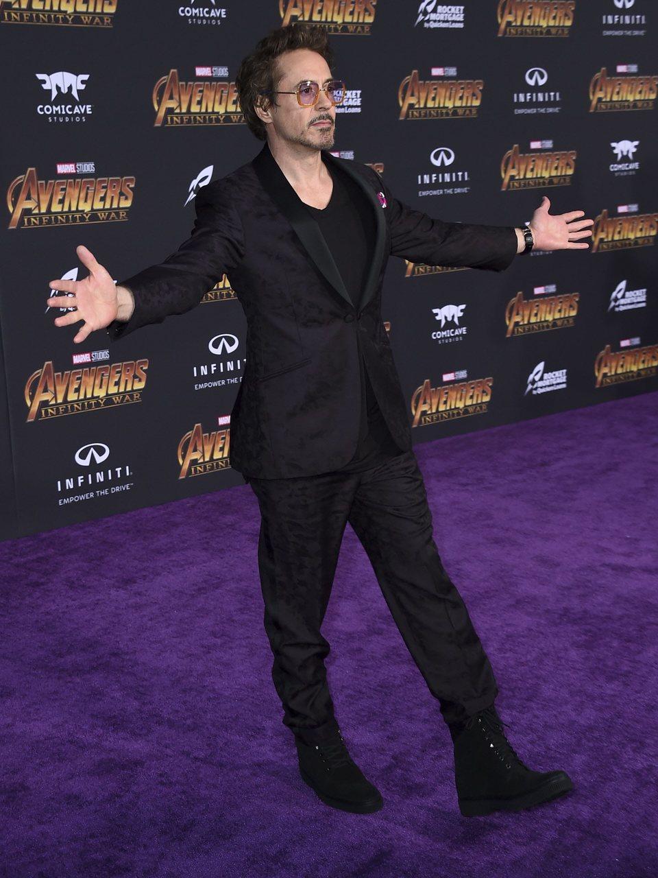 Robert Downey Jr. at the 'Avengers: Infinity War' purple carpet