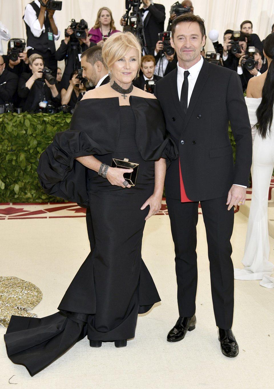 Hugh Jackman and his wife Deborra-Lee Furness at the Met Gala 2018