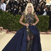 Donatella Versace at the Met Gala 2018