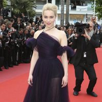 Emilia Clarke attends the premiere of 'Solo: A Star Wars Story' during the 71st Cannes Film Festival