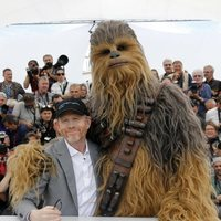 Ron Howard and Chewbacca attend the premiere of 'Solo: A Star Wars Story' during the 71st Cannes Film Festival