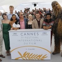 Actors of 'Solo: A Star Wars Story' attend the premiere of the film at the Cannes Film Festival