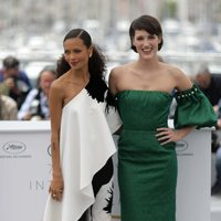 Thandie Newton and Phoebe Waller-Bridge attend the premiere of 'Solo: A Star Wars Story' during the 71st Cannes Film Festival