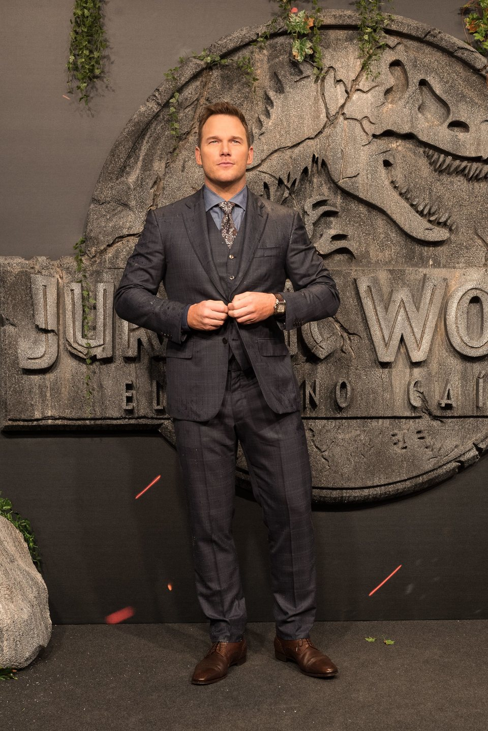 Chris Pratt at the 'Jurassic World: Fallen Kingdom' world premiere in Madrid