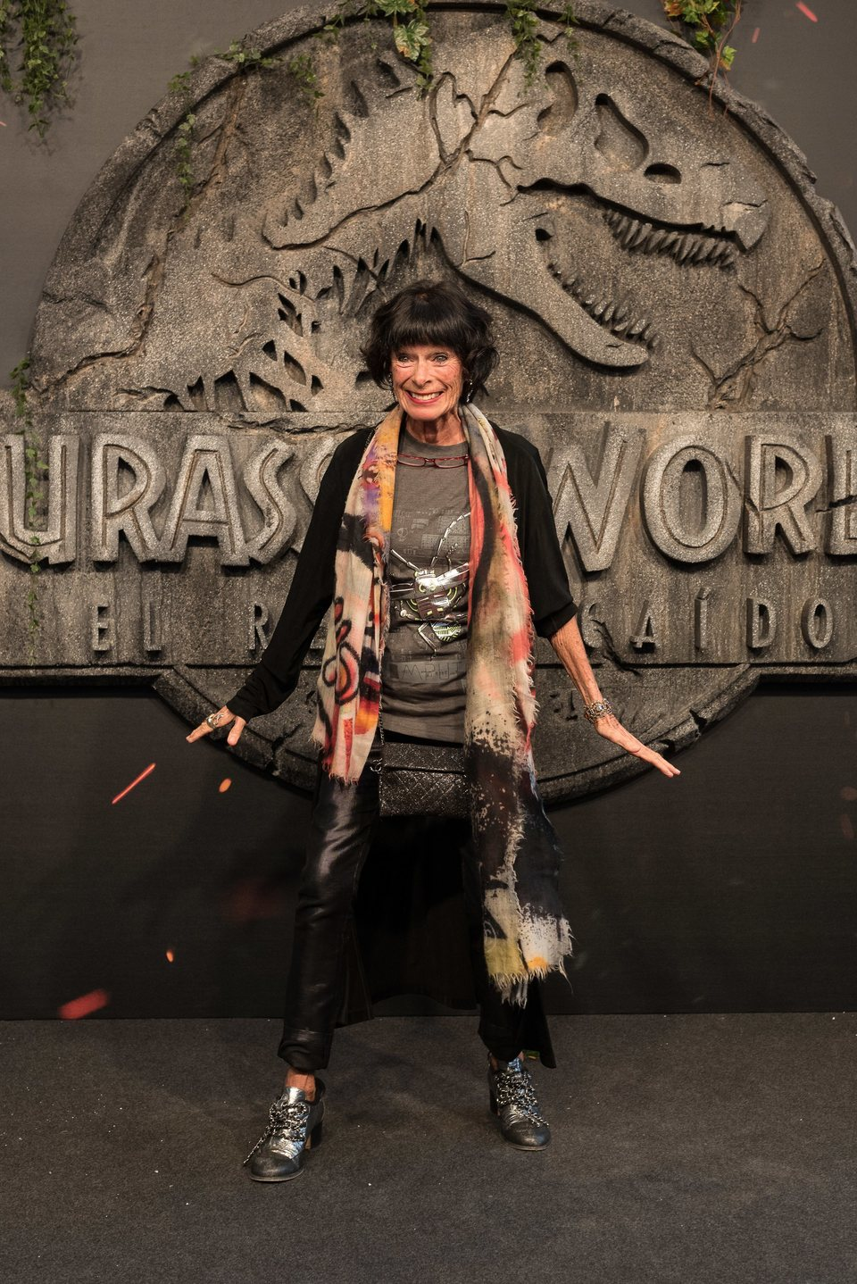 Geraldine Chaplin at the 'Jurassic World: Fallen Kingdom' world premiere in Madrid