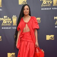 Tessa Thompson at the MTV Movie & TV Awards 2018 red carpet