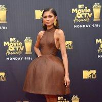 Zendaya at the MTV Movie & TV Awards 2018 red carpet