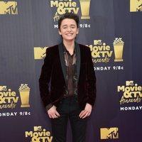 Noah Schnapp at the MTV Movie & TV Awards 2018 red carpet