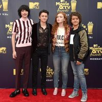 The 'Stranger Things' actors at the MTV Movie & TV Awards 2018 red carpet