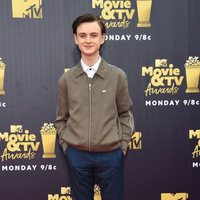 Jaeden Lieberher at the MTV Movie & TV Awards 2018 red carpet