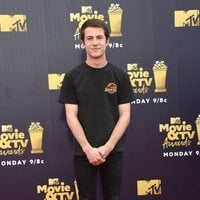 Dylan Minnette at the MTV Movie & TV Awards 2018 red carpet