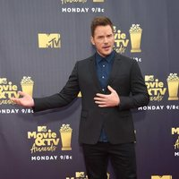 Chris Pratt at the MTV Movie & TV Awards 2018 red carpet