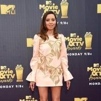 Aubrey Plaza at the MTV Movie & TV Awards 2018 red carpet