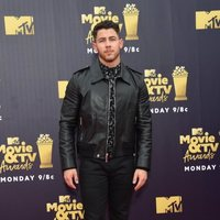 Nick Jonas at the MTV Movie & TV Awards 2018 red carpet
