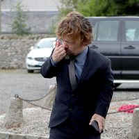 Peter Dinklage arrives at the wedding of Kit Harington and Rose Leslie