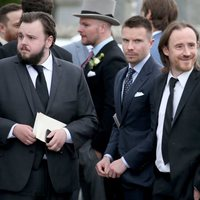 John Bradley, Joe Dempsie and Ben Crompton at the wedding of Kit Harington and Rose Leslie