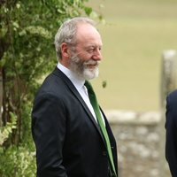 Liam Cunningham arrives at the wedding of Kit Harington and Rose Leslie