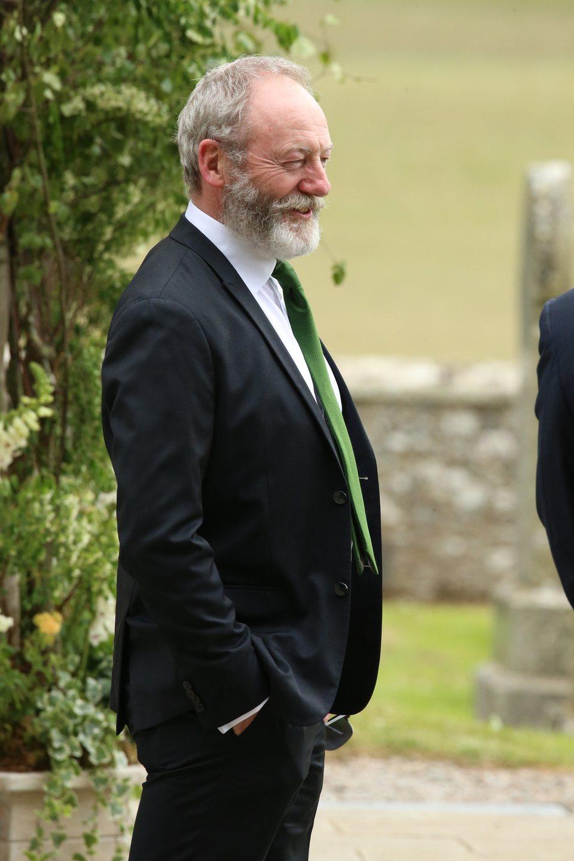 Liam Cunningham arrives at the wedding of Kit Harington and Rose Leslie