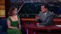 Emilia Clarke's interview (?Game of Thrones?) on The Late Show