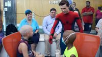Tom Holland visits children hospital in Spider-Man costume