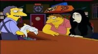 'The Simpsons' Yoko Ono at the Mou's tabern