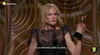 Nicole Kidman speech at Golden Globes 2018