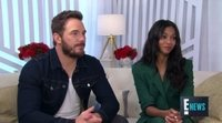 Chris Pratt y Zoe Saldana talk in E! Live From the Red Carpet about 'Avengers: Infinity War'