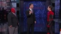 Tom Holland shows up on 'Jimmy Kimmel Live!' wearing Spider-Man's suit