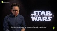 "J.J. Abrams ('Star Wars: The Rise of Skywalker'): ""Rian and I are in the same side"""