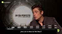 "Benicio Del Toro: ""In movies we're in search of the truth and entertainment"""