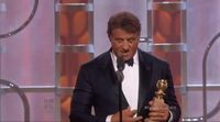 Sylvester Stallone thanks his Best Supporting Actor award in 2016 Golden Globes