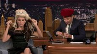 Penelope Cruz makes a Dubsmash on the Jimmy Fallon show