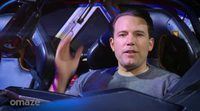 Ben Affleck shows the Batmobile to his fans